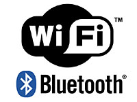 WiFi and Bluetooth logos